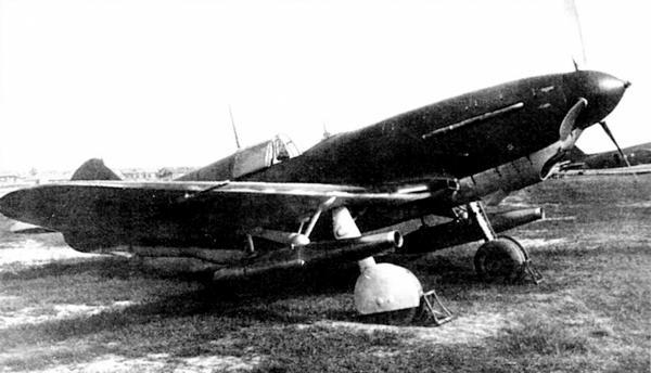 ЛаГГ-3 с дополнительными двигателями ВРД-1, 1942г.