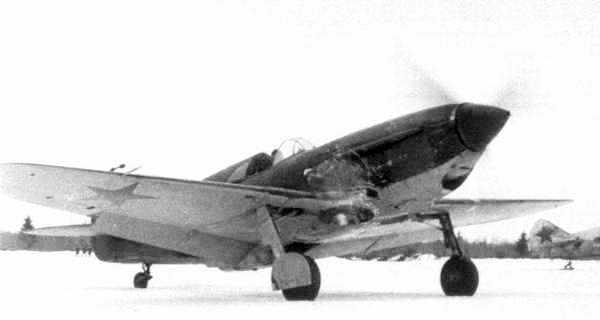 Один из истребителей 5-го гв. иап, Калининский фронт, зима 1942г.
