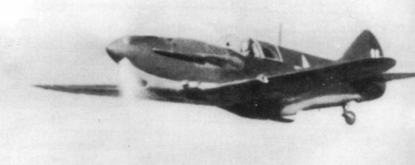 ЛаГГ-3 в полёте, 44-й иап, Ленинградский фронт, 1942г.