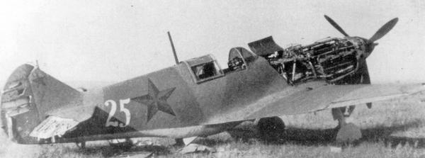 Этот ЛаГГ-3, построенный на заводе №31, был захвачен немцами.
