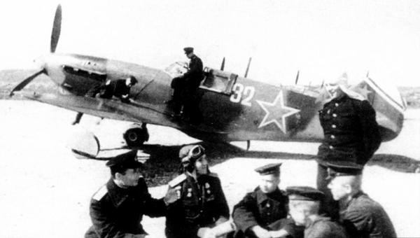 ЛаГГ-3 из 66-й серии завода №31, несущий стандартный камуфляж образца 1943г., 9-й иап ВВС Черноморского флота.
