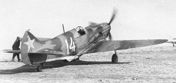 Один из самолётов 44-го иап ПВО, Ленинградский фронт. Окраска истребителя сильно отличается от стандартной.