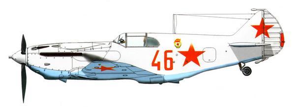 ЛаГГ-3 7-й серии, 3-й гв. иап ВВС Балтийского флота, февраль 1942г.