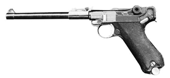 Рис. 5. Пистолет Парабеллум («морская модель», ствол длиной 150 мм)