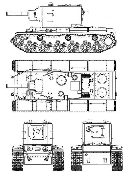 Танк КВ-2 выпуска декабря 1940 года.