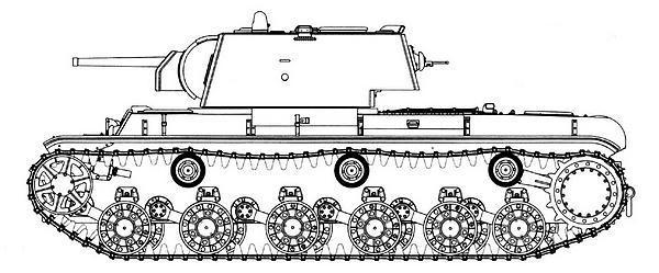 Танк КВ-1 с упрощенной башней.
