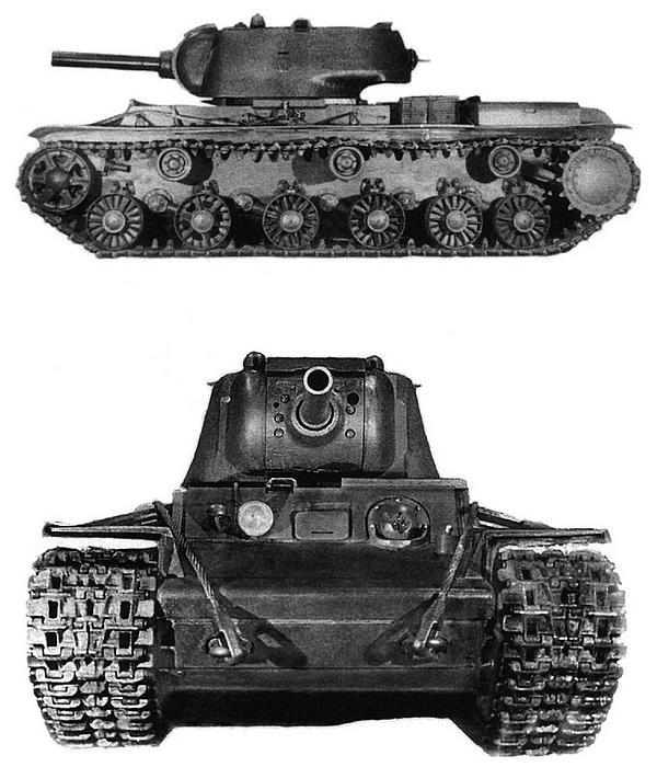 Танк КВ-9 перед прохождением испытаний. Челябинск, зима 1942 года.