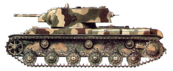 Танк КВ-1 из состава 220-й танковой бригады. Ленинградский фронт, весна 1942 года.