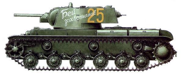 Танк КВ-1 «Бей захватчиков». Неизвестная танковая часть, Ленинград, весна 1942 года.