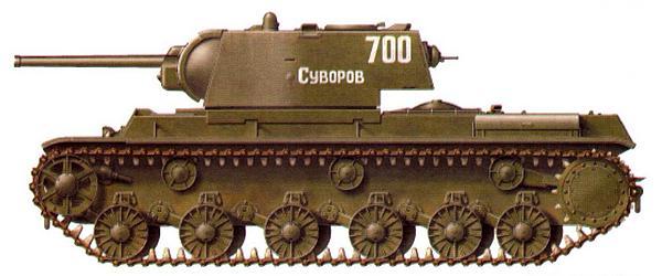 Тяжелый танк КВ-1 из состава 260-го отдельного танкового полка под командованием полковника Красноштана. Ленинградский фронт, Карельский перешеек, июнь 1944 года.
