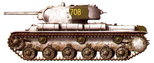 Тяжелый танк КВ-1. Неизвестная танковая часть. Калининский фронт, зима 1943 года.