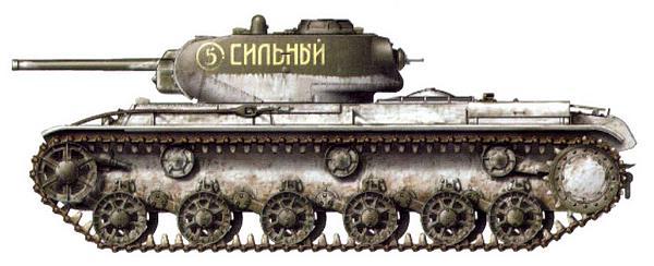 Тяжелый танк КВ-1 «Сильный» младшего лейтенанта В.Василенко из состава 14-го гвардейского танкового полка прорыва. Донской фронт, декабрь 1942 года.