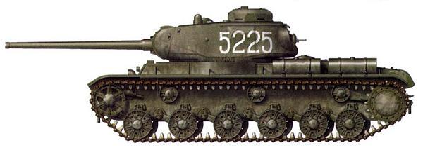 Тяжелый танк КВ-85 из состава 1452-го самоходно-артиллерийского полка. Крым, апрель 1944 года.