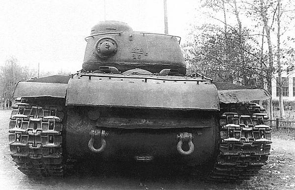 Танк КВ-1С с установленной на нем башней от танка ИС-122, Челябинский Кировский завод, осень 1942 года.