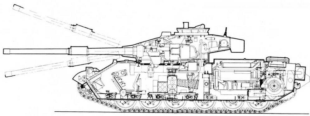 Компоновочная <a href='https://arsenal-info.ru/b/book/3207925657/34' target='_self'>схема танка</a> Vickers Mk.3