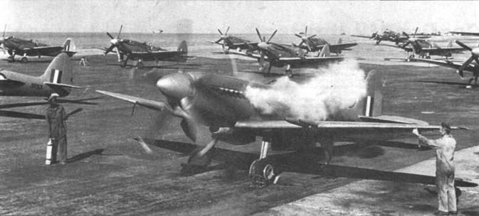 Работа стартера Кофмана сопровождалась характерным выхлопом. На снимке — «Спитфайры» F Mk 22 из 1-й эскадрильи ВВС Южной Родезии, аэропорт Саллсбэри.