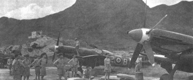 Последней эскадрильей RAF, имевшей на вооружении «Спитфайры» стала 80-я. Она же — единственная, получившая на вооружение «Спитфайры» Mk 24. В 1949г. эскадрилью вернули из Германии, до начала 1952г. самолеты 80-й эскадрильи патрулировали воздушное пространство Гонгконга. Снимок сделан на аэродроме Кал Так вскоре после прибытия 80-й эскадрильи на Дальний Восток.