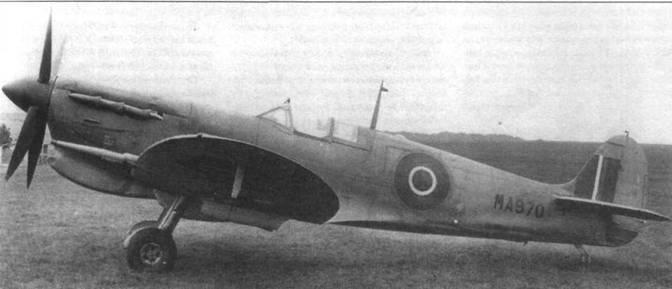 МА970 — первый серийный «Сифайр llС». Самолет облетали 28 мая 1942 года, а 15 июня 1942 года машину передали заказчику.