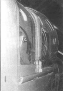 Сдвигаемая крышка фонаря у гермокабины на PR.XIX.