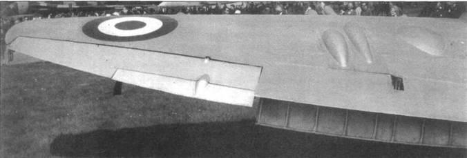 Конструктивные особенности крыла самолетов Мк.21–24. Обратите внимание на элероны, оснащенные триммерами.