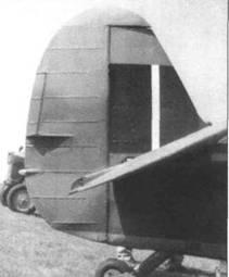 Хвостовое оперение раннего типа, использовавшееся на всех модификациях с двигателем «Мерлин».