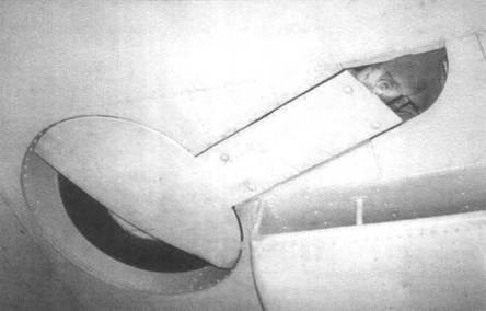 Шасси «Спитфайра I» в убранном состоянии.