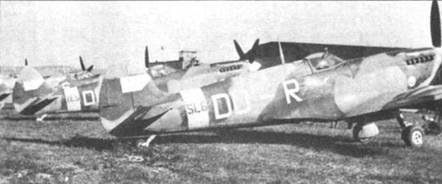 Линейка «Спитфайров» Mk IХе ВВС Чехословакии, снимок сделан на аэродроме Ческе- Будейовице после войны.