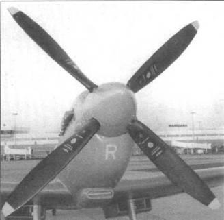 Четырехлопастный винт «Ротол», характерный для «Спитфайров» с двигателем «Мерлин» 60-й и 70-й серий (в данном случае PR.XI).