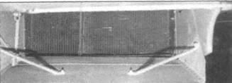 Радиатор на самолете с двигателем «Мерлин» 60-й серии, вид сзади.
