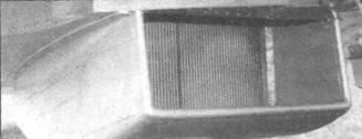 Радиатор на самолете с двигателем «Гоиффон», вид спереди.