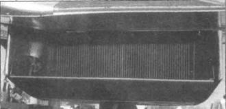 Радиатор на самолете с двигателем «Гриффон», вид сзади.