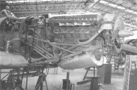 Двигатель «Мерлин» 60-й серии на «Спитфайре IX».