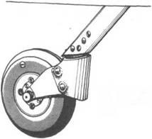 неубираемое хвостовое колесо