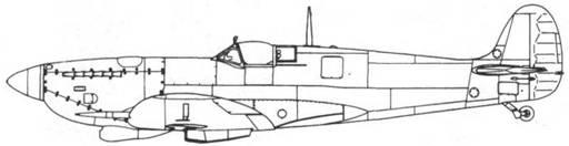 Spitfire IX ранний, переделан из Мк V