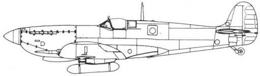 Spitfire FR. IXC с топливным баком на 20 галлонов