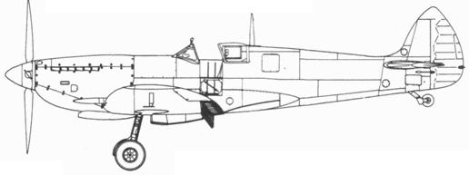 Spitfire LF. IXC варинт, доставшийся Израилю от Чехословакии