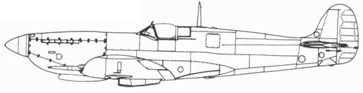 Spitfire VII ранних серий с килем уменьшенной площади