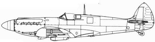 Spitfire F. XII серийный