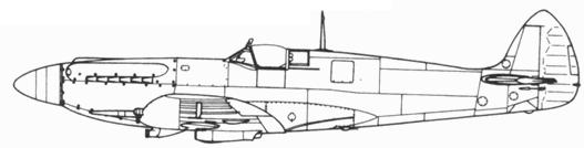 Spitfire F. XII поздний серийный