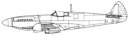 Spitfire F. XIV один из прототипов (JF318)