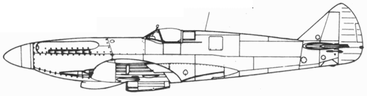 Spitfire F. XIV один из прототипов (JF319)