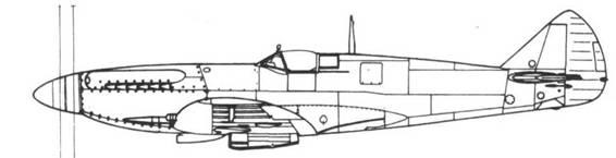 Spitfire F. XIV один из прототипов со сдвоенным винтом — ранний вариант