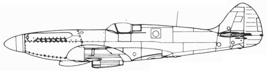 Spitfire PR. XIX typ 389 без гермокабины
