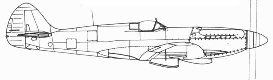 Spitfire F.21 со сдвоенным винтом