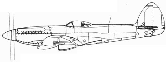 Spitfire F.22 со сдвоенным винтом