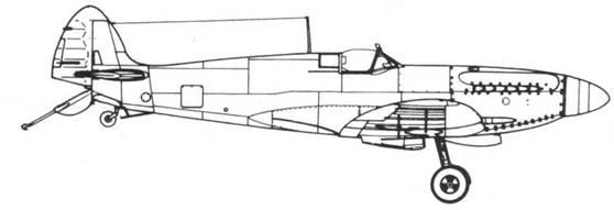 Seafire F. XV поздних серий с канадской радиоантенной