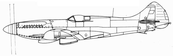 Seafire F. 45 со сдвоенным винтом