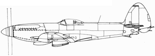 Seafire F. 47 прототип