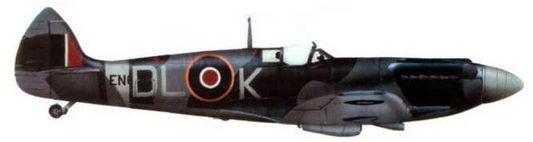 «Спитфайр XII» (EN625/DL@K), 91-я эскадрилья. Уэстхемпнетт, октябрь 1943 года.