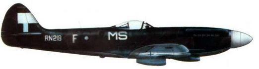 «Спитфайр FR.XIV» (RN218/MS@F) 273-я эскадрилья, Тан-Сон- Хут. район Сайгона, Вьетнам, сентябрь 1945 года.